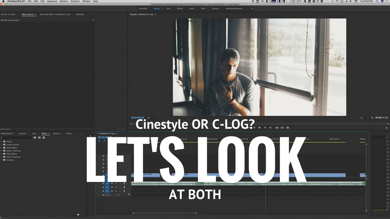 Cinestyle vs CLOG Compared – tell your story